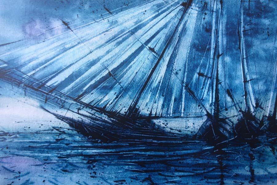 Dedicatoria Barco Azul y Negro