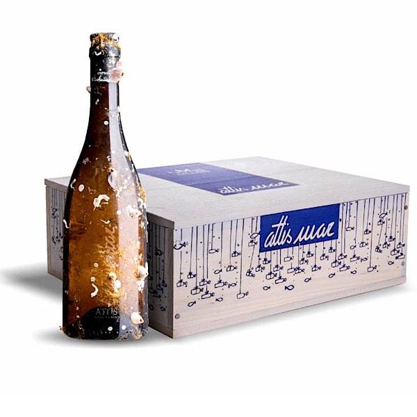 Estuche Premium Madera 6 botellas Attis Mar