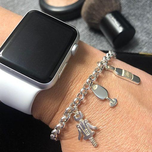 Winelover Sterling Silver 925 Chain Bracelet