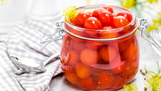 Tomate Entero Pelado en Aceite de Oliva 400 grs