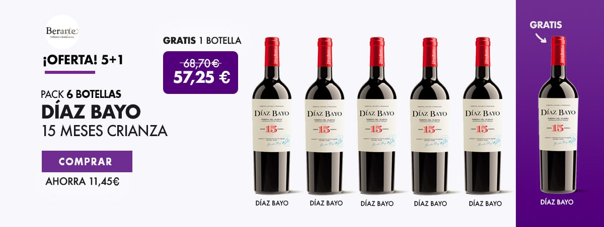 Regalo Botella Vino Díaz Bayo 15 Meses Crianza