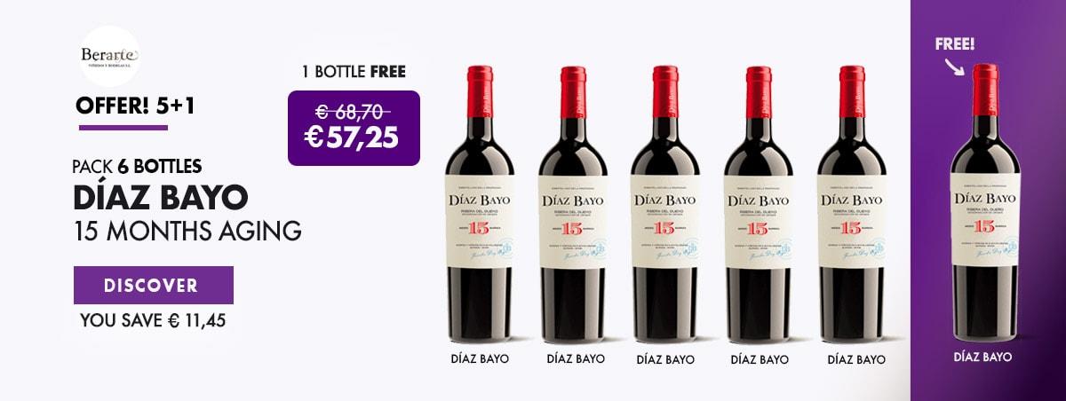 Gift Bottle Wine Díaz Bayo 15 Months Aging