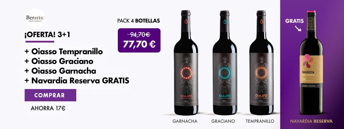 Oferta Oiasso |Regalo Botella Vino Navardia Reserva